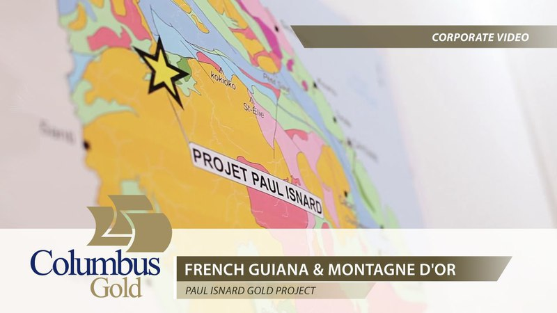 Columbus Gold French Guiana Montagne d'Or Gold Project