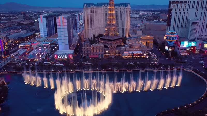 Водное шоу ⛲️ Поющие фонтаны ⛲️ Las Vegas