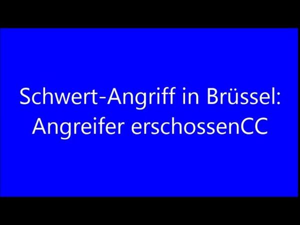 16 38 15 12 2018aktualisiert 16 48 15 12 2018 Schwert Angriff in Brüssel Angreifer erschossen