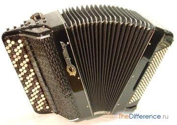 Разница между баяном и аккордеоном Баян и аккордеон музыкальные инструменты с красивым и богатым диапазоном звучания. Они давно завоевали популярность у слушателей и пользуются почетом у