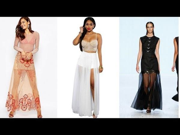 FALDAS LARGAS TRANSPARENTES 👗 ¡15 Exclusivos Modelos! Moda Fashion Faldas