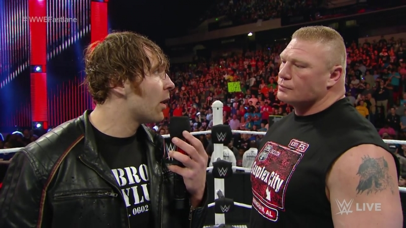 Dean Ambrose wants Brock Lesnar to take him to Suplex City Raw, February 1, 2016