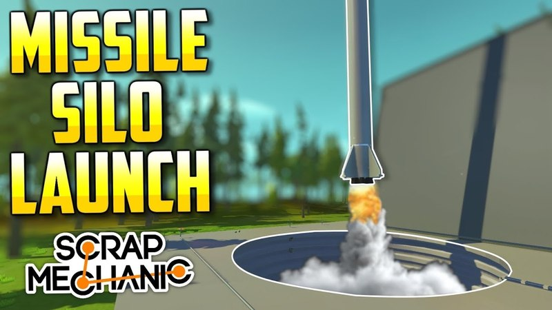 UNDERGROUND MISSILE SILO Scrap Mechanic Creations Episode 127