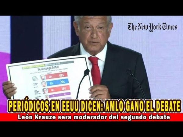 AMLO ganó el debate: New York Times