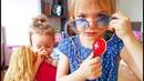 Играем в Доктора с Куклой. Лечим Кашель у пупса. Как МАМА. Майя и Ника играют в доктора