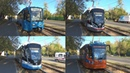 Московские трамваи 71-931М Витязь-М, 71-619 (КТМ-19) и 71-623 (КТМ-23)