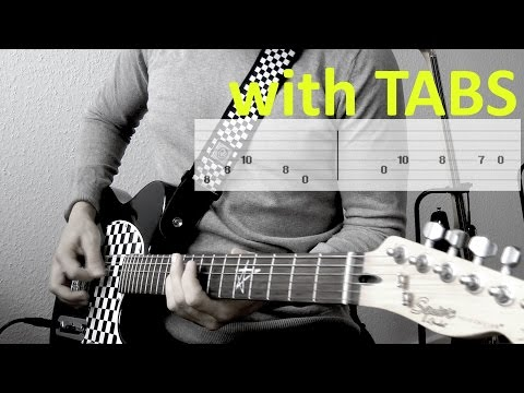 Three Days Grace- Never too late Guitar Cover wTabs on screen