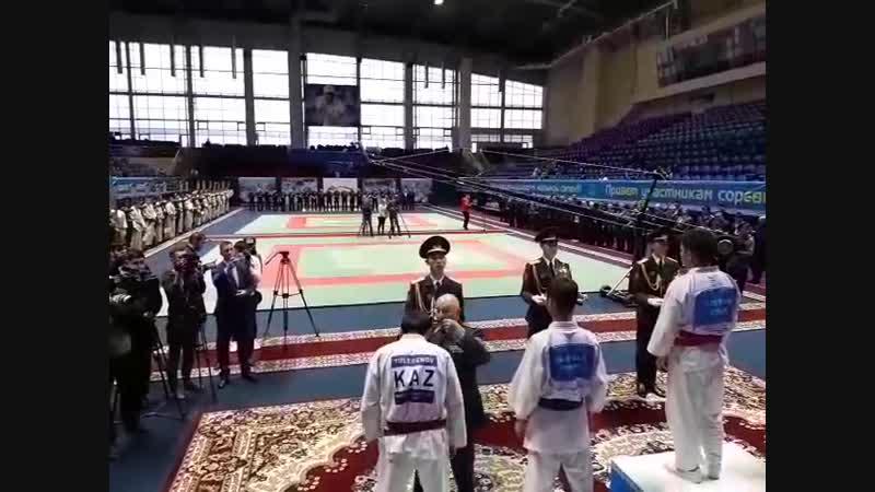 рукопашный бой в спорткомплексе Даулет нац.гвардия призыв 2-17