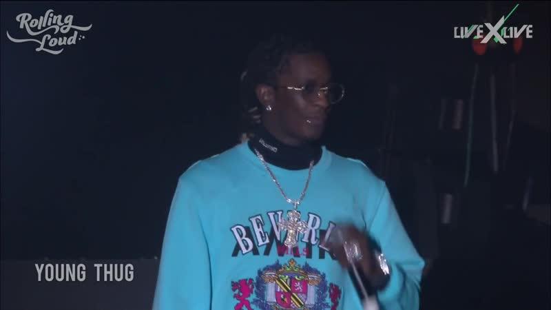 Выступление Young Thug на фестивале «Rolling Loud 2018» в Лос-Анджелесе