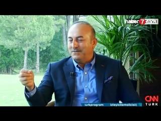 Bakan Çavuşoğlu, canlı yayında Rusça konuştu