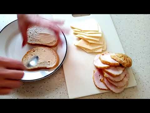 Горячие бутерброды к завтраку на пятерых человек