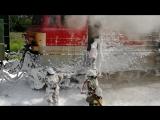 Пожар в локомотиве в районе пос. Глубокого Каменского района