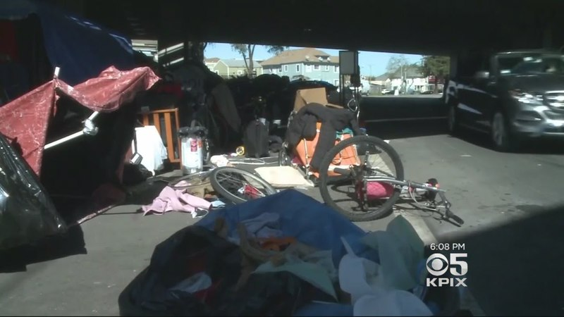 Massive West Oakland Homeless Encampment Spills Into The Street