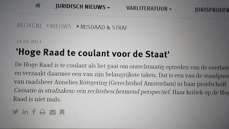 Hoge Raad (10): afrekenen met criticasters