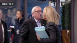 Juncker apparently feeling naughty at the EU summit