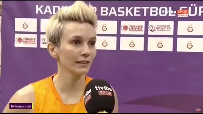 Pazar günü oynanan Bellona Kayseri Basketbol maçı sonrası sporcumuz Işıl Alben'in röportajı