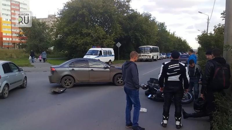 В Заозерном на злополучном перекрестке вновь пострадал мотоциклист