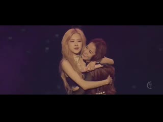 the way rosé holds the girls to reassure and encourage them to speak