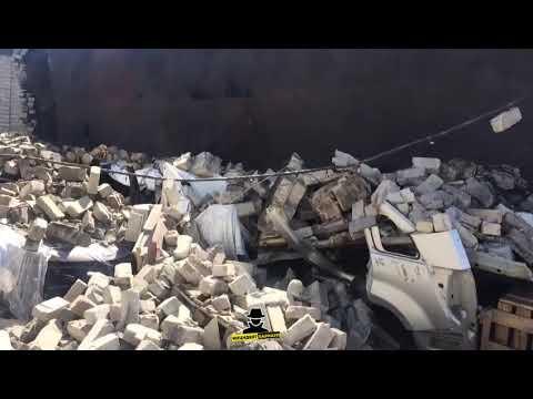 По адресу Ползунова 55а на припаркованный автомобиль рухнула стена. (Инцидент Барнаул)