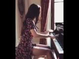 Lola Astanova -  Beethoven Sonata No. 17 (Tempest, 3 mvt.) Very beautiful girl plays the piano [360p]