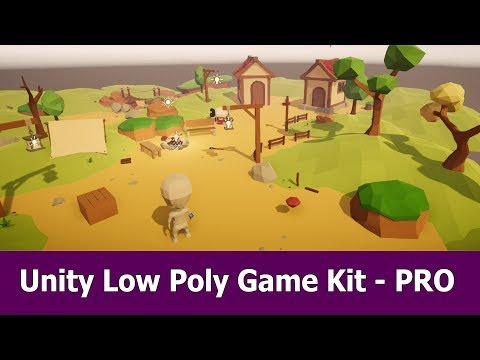 Unity Low Poly Gamekit PRO Asset