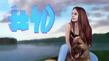 Speedpaint (Paint tool sai) #40 lady with a dog