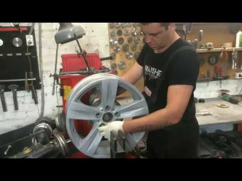 подготовка литых дисков к покраски для BMW E60 правка,сварка аргоном!Москва ЮАО