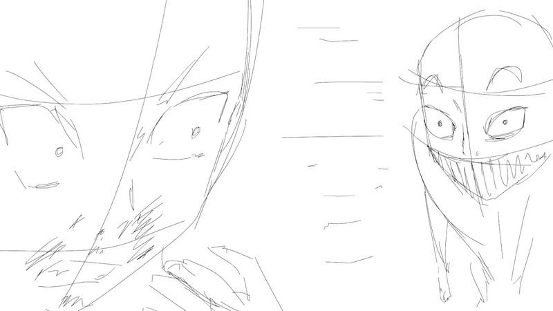 Покадровая 2D анимация animation sakuga sketch 6