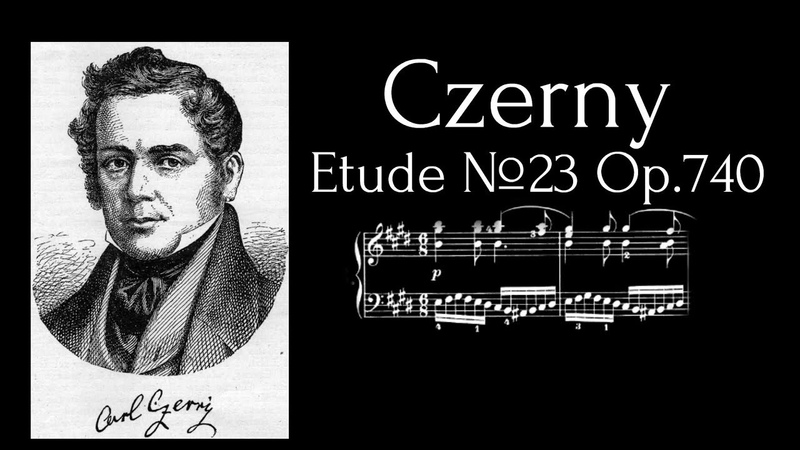 Carl Czerny Etude №23 E Dur Op 740 With MIDITrail Sheets