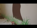 Роспись стены в детской комнате г. Северодонецк 2017 г.
