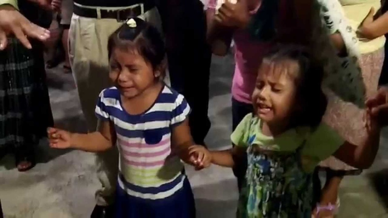 Kids receiving the Holy Ghost in Peten