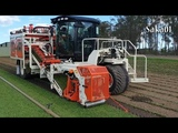Modern Automatic Roll Harvester And Sandfiller - Turf Harvesting Machine In The World #HD720p