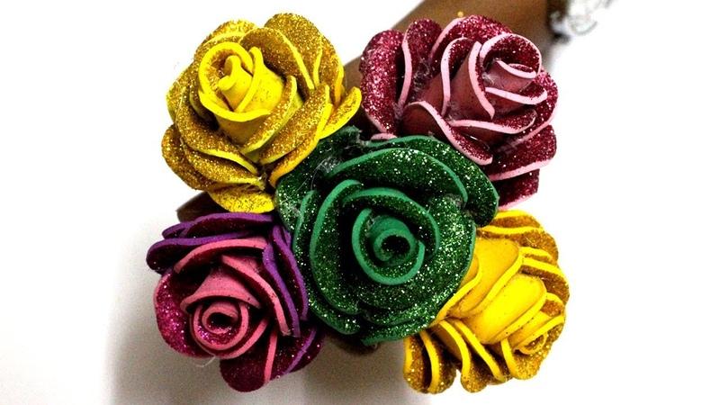 Glitter Foam Sheet Rose Making Colored Foam Sheets