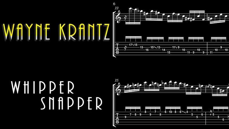 Wayne Krantz - Whippersnapper Guitar Solo Transcription