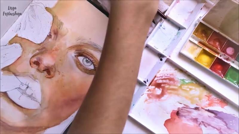CHALLENGE_ Рисунок детской акварелью! Стоит ли рисовать медовой акварелью