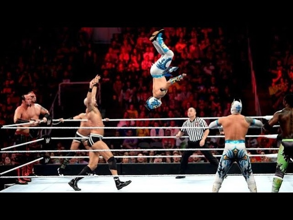 The Lucha Dragons and The New Day vs Tyson Kid, Cesaro and The Ascension: Raw, March 30, 2015