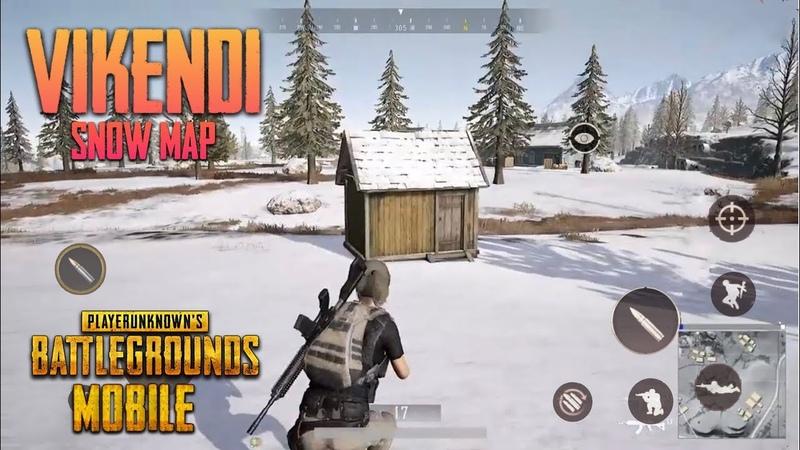 PUBG MOBILE - VIKENDI SNOW MAP - iOS Android BETA GAMEPLAY