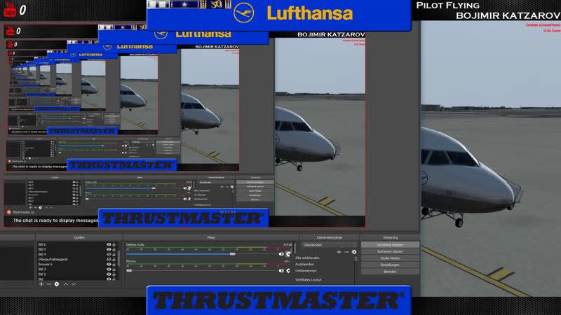 LIVE Prepar3D v4.2 Hamburg - Frankfurt |Lufthansa | A319 |IVAO |313 nm