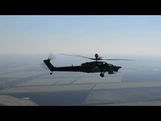 Вертолетные экипажи ЮВО на Кубани проходят обучение на новейших боевых Ми-28УБ