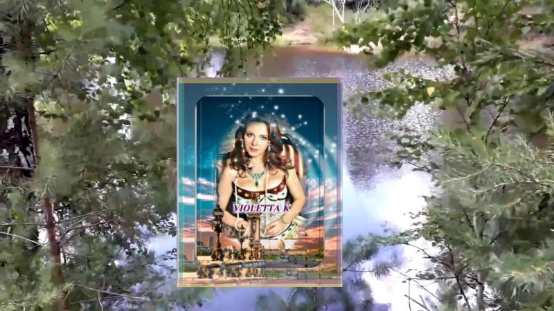 Футаж Красивый пейзаж. Река. Сосны, берёза. Лето. Футажи для видеомонтажа.