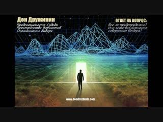 Дон Дружинин | Предсказуемость Судьбы и Пространство Вариантов