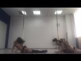 Exotic pole dance Omsk sand of time (Lusy Toktareva & Aleksandra Kiss)