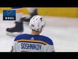 Никита Сошников первая шайба за Блюз 18.03.2018