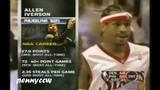 Allen Iverson 38pts vs Carmelo Anthony the Denver Nuggets (2006)