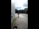 Елена Земля играю в большой теннис со стеной дворца крылья советов