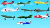 10 Little Aeroplanes l Childrens Rhymes l Aeroplane l Kids Rhymes l Airplanes