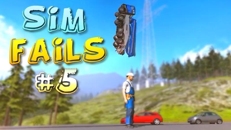 Simulation Games FAILS Compilation 5 Euro Truck Farming Train Simulator