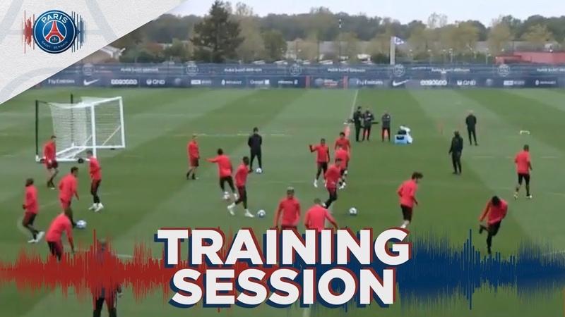 15 premières minutes d'entraînement avant Paris Saint-Germain - Belgrade