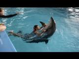 С 10-летием сына Тимофея (плавание с дельфинами!)