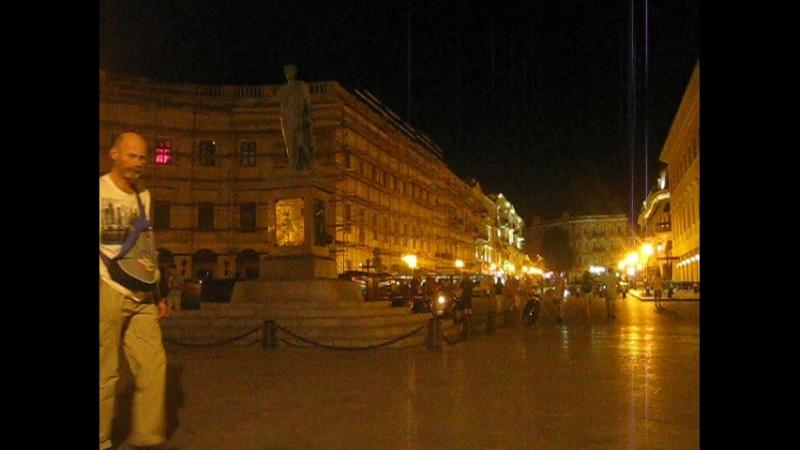 Одесса.6.08.18. 2 ночи - памятник Дюку (герцогу) де Ришелье муз. А.Зуев - Порошок .